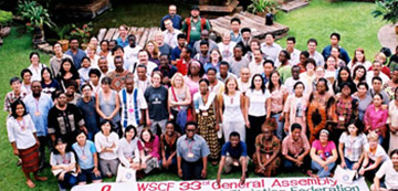 Participants at the 33rd WSCF General Assembly in Chiang Mai, Thailand, August 2004