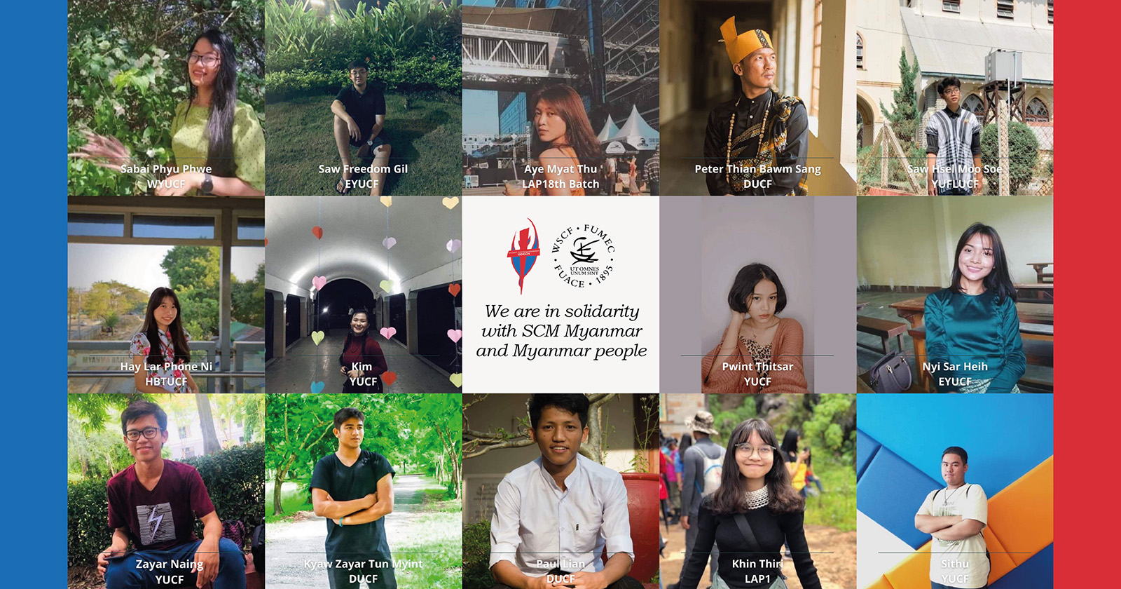 Joint WSCF Solidarity Statement with students in Myanmar
